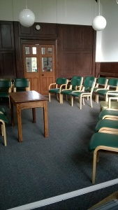 Meeting Room at Epping Quaker Meeting arranged for North East Thames Area Meeting