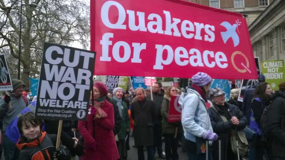 Quakers on stop trident demo
