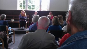 ice&fire theatre group performing in Epping Quaker Meeting House